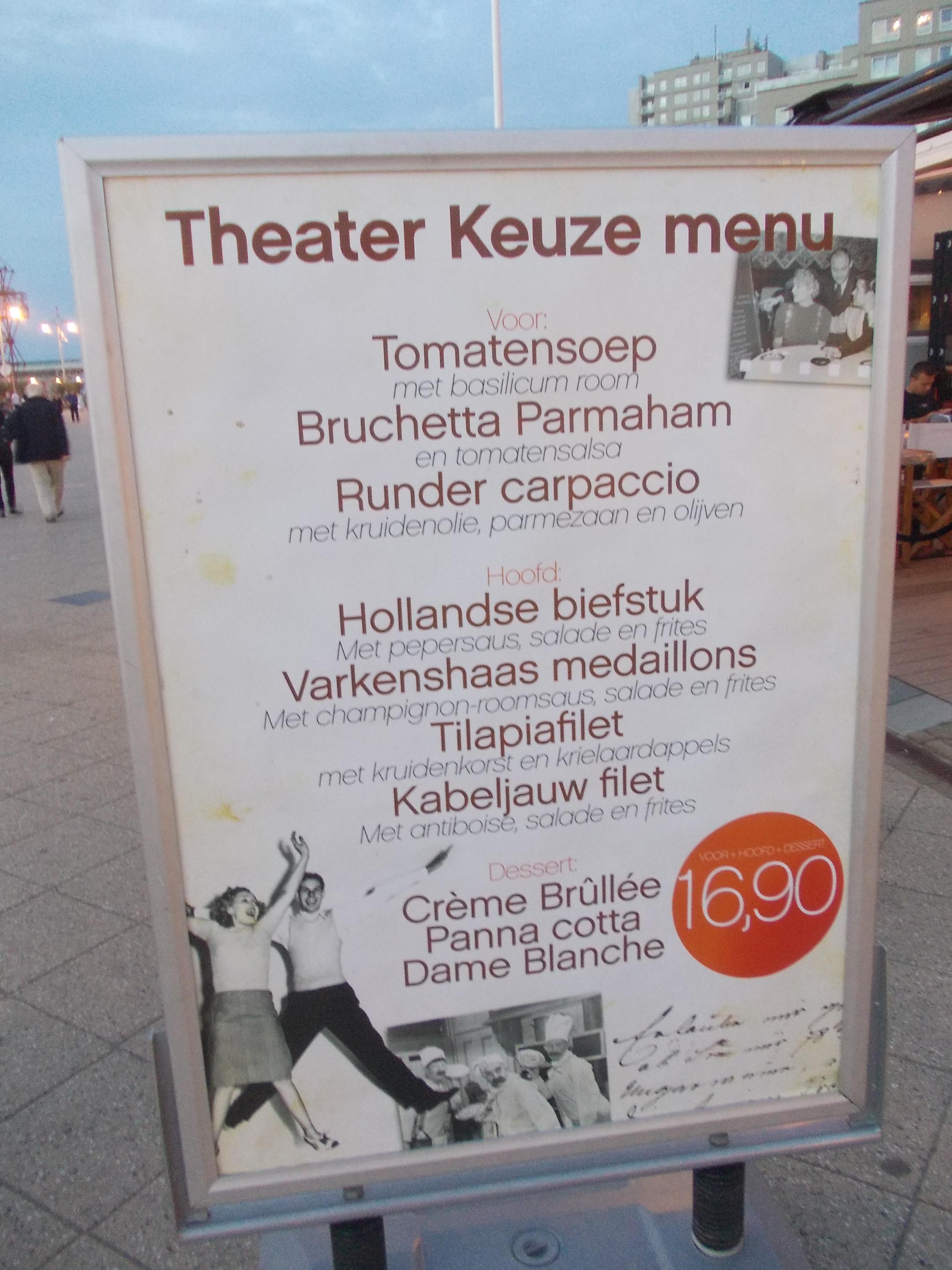 Theatermenu
