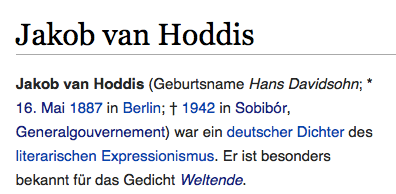 VanHoddis